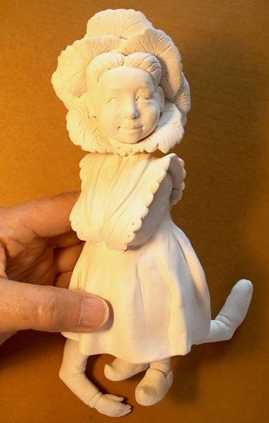 Full body sculpt in creative paperclay kathryn walmsley